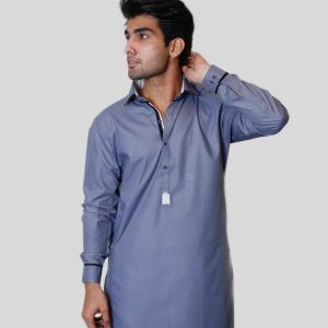 Light Blue Shalwar Kameez Shirt Collar For Men (Mens shalwar kameez online shopping in Pakistan)