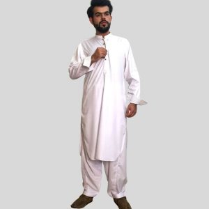 White Shalwar Kameez Wash N Wear For Men (Mens shalwar kameez in Pakistan)