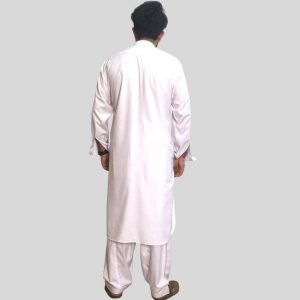White Shalwar Kameez Wash N Wear For Men ((Mens shalwar kameez in Pakistan)