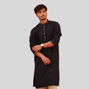 Elegant Shemre Cotton Men's Kurta - Blue in Pakistan