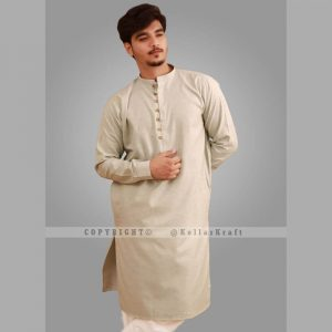 Loop Green Shemre Cotton Men's Kurta
