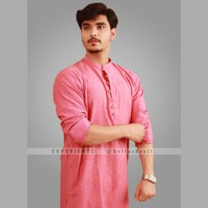 Loop Pink Shemre Cotton Men's Kurta